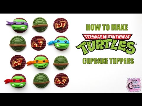 How To Make Teenage Mutant Ninja Turtles Cupcake Toppers