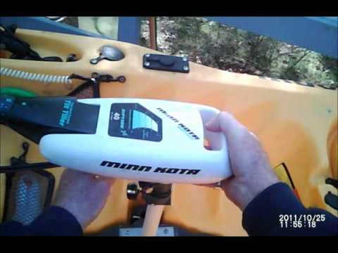 install the trolling motor in the Hobie Drive kayak