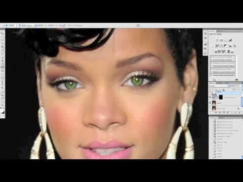 tuto photoshop retouche des yeux mode partie 2 en francais HD