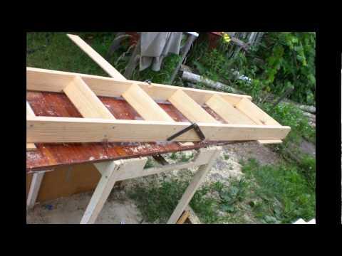 Складная лестница на чердак своими из дерева руками