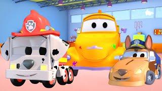 Kleine Frank en Kleine Matt zijn PAW PATROL  🎨 Tom de takelwagen's Verfwinkel in Autostad