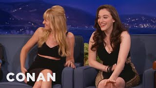 Beth Behrs Accidentally Grabbed Kat Dennings