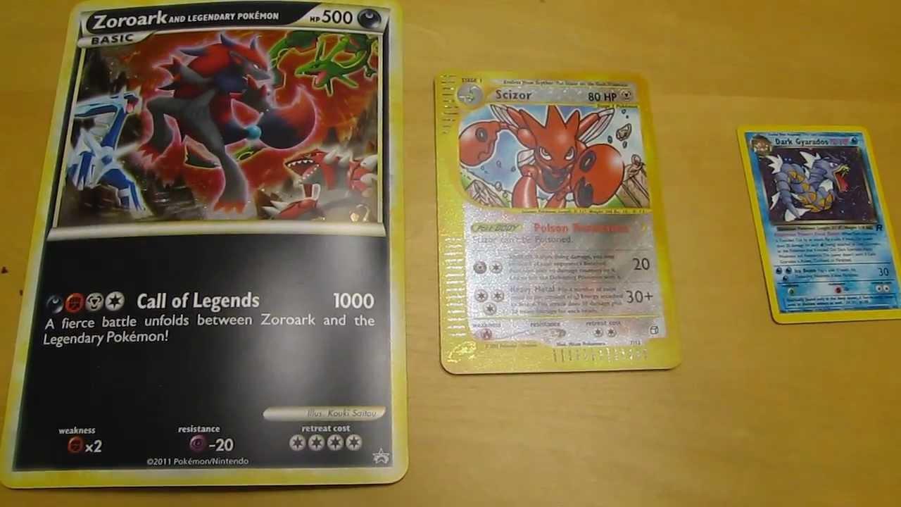 Zoroark Pokemon Card 1000 Damage Are Jumbo or Oversized Pokemon
