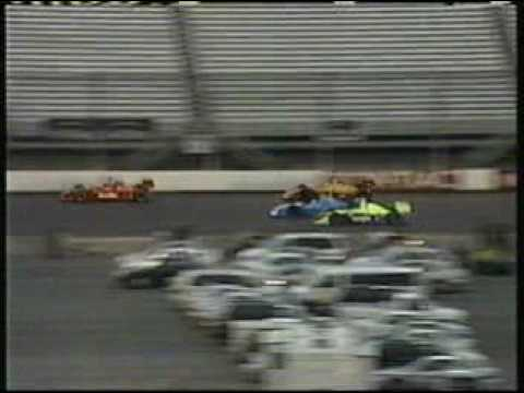 2001 Indycar Richmond 300 - Jacques Lazier crash Video