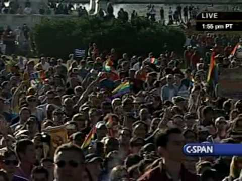 Broadway cast Hair sings at National Equality March Rally