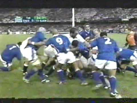 Rugby Union 2003, England vs Samoa at Melbourne part 4.