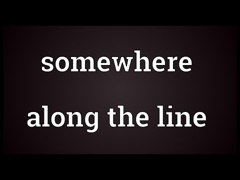 Header of Somewhere Along the Line