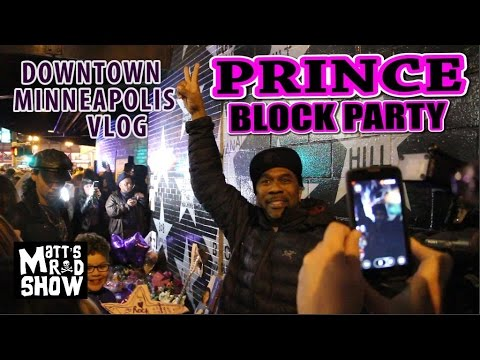 DOWNTOWN MINNEAPOLIS THE NIGHT PRINCE DIED - Purple Rain Live Outside First Avenue - Matt's Rad Show