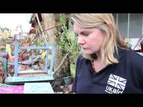 Justine Greening visits Tacloban after Typhoon Haiyan