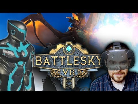 BE THE DRAGON!!! Flying VR First Person Shooter! BattleSky VR Review on the HTC Vive