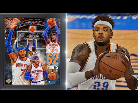 NBA 2K15 MyCAREER - Carmelo Anthony 62 Point Record! A CAREER HIGH AGAIN!!!