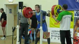 Andrew Poberezhny RAW  powerlifting Junior  90kg  WDFPF