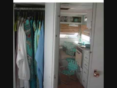 Tiny Summer House Vintage Travel Trailer Decorating small space Flint Mi. camper vintage decore