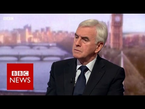 John McDonnell on Brexit and Trident - BBC News