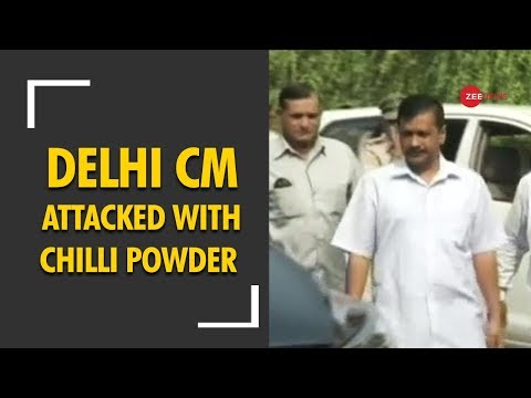 Man detained after throwing chilli powder at Arvind Kejriwal