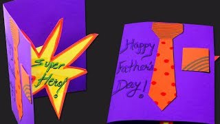 DIY Fathers Day Card | Craft For Kids | Step by Step | How To Make Shirt Card For Dad