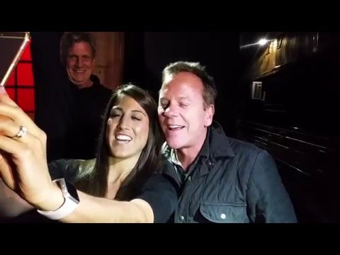 Kiefer Sutherland greeting fans outside Daryl's House Club