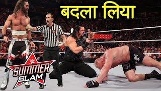 Roman reigns Wins Universal Championship Against Brock Lesnar Replace Injured Seth | WWE Raw 2019