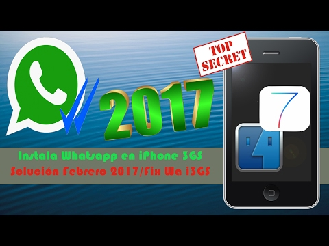 [Tutorial Idevice] Como Instalar WhatsApp en iPhone 3GS 2017 [Solución de Errores]