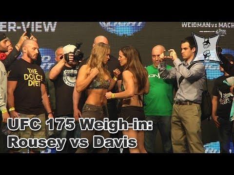 UFC 175 Ronda Rousey vs Alexis Davis Weighin  Stare Down HD  Unedited