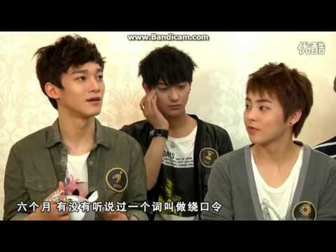 EXO-M YIN YUE TAI INTERVIEW PART 2 音?大?? 엑소 (EXOCHARM)