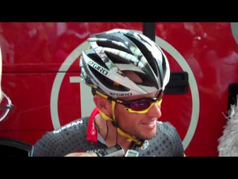TDF 2010 - Stage 10 Chambery Start Lance Armstrong Interview