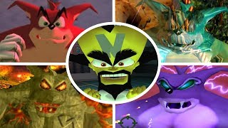 Crash Bandicoot Wrath of Cortex - All Bosses + Cutscenes (No Damage)