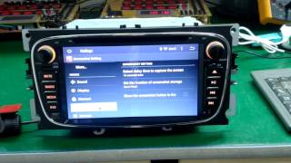 Joying ford focus Galaxy Mondeo Android double 2 din car audio GPS navigation review video