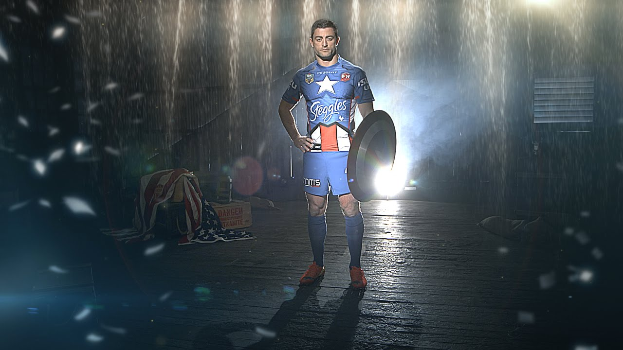 Captain America Roosters Jersey Roosters Captain America