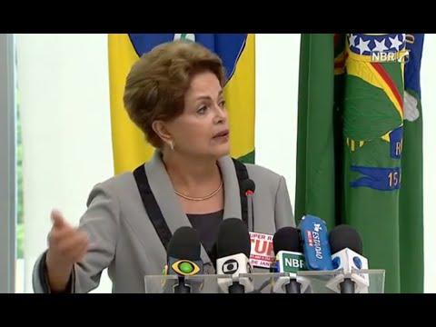 Coletiva da presidente Dilma Rousseff após protestos do dia 15/03