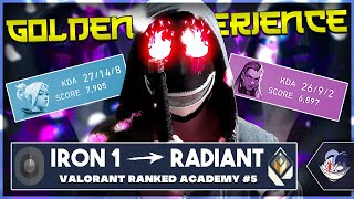 IRON 1 TO RADIANT [ Valorant Ranked Academy #5 ] - HOW TO GET OUT OF THE GOLD EXPERIENCE!