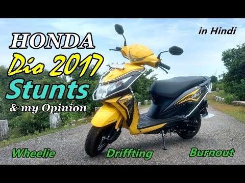Honda Dio 2017 model stunts off road ride and my opinion