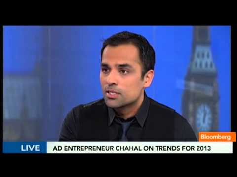 RadiumOne CEO, Gurbaksh Chahal interviews with Guy Johnson of Bloomberg TV