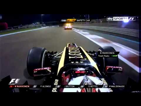 Kimi Raikkonen Abu Dhabi 2012 Team Radio