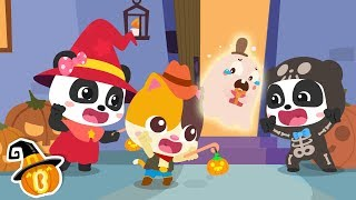 Baby Panda's Halloween Makeup | Trick or Treat Song | Halloween Costume | Halloween Song | BabyBus