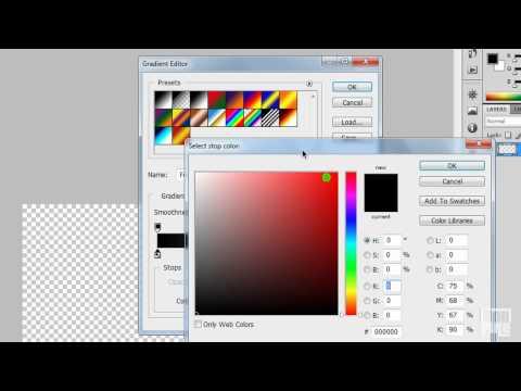 Photoshop tutorialok - Az eszközök használata V. - Gradient Editor