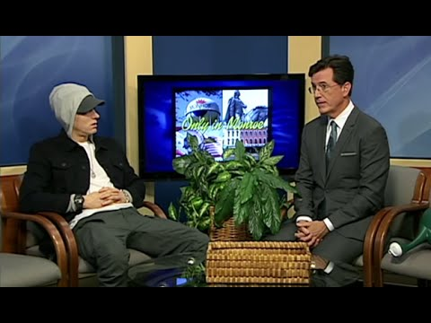 Download Eminem Hilarious Interview with Stephen Colbert on Only In Monroe