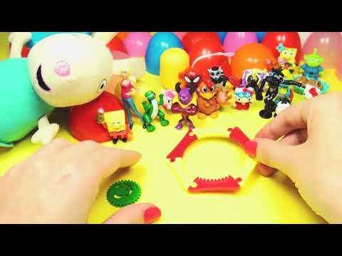 Surprise Eggs Peppa Pig Mickey Mouse Minnie Mouse Marvel Heroes Play Doh Eggs Toys