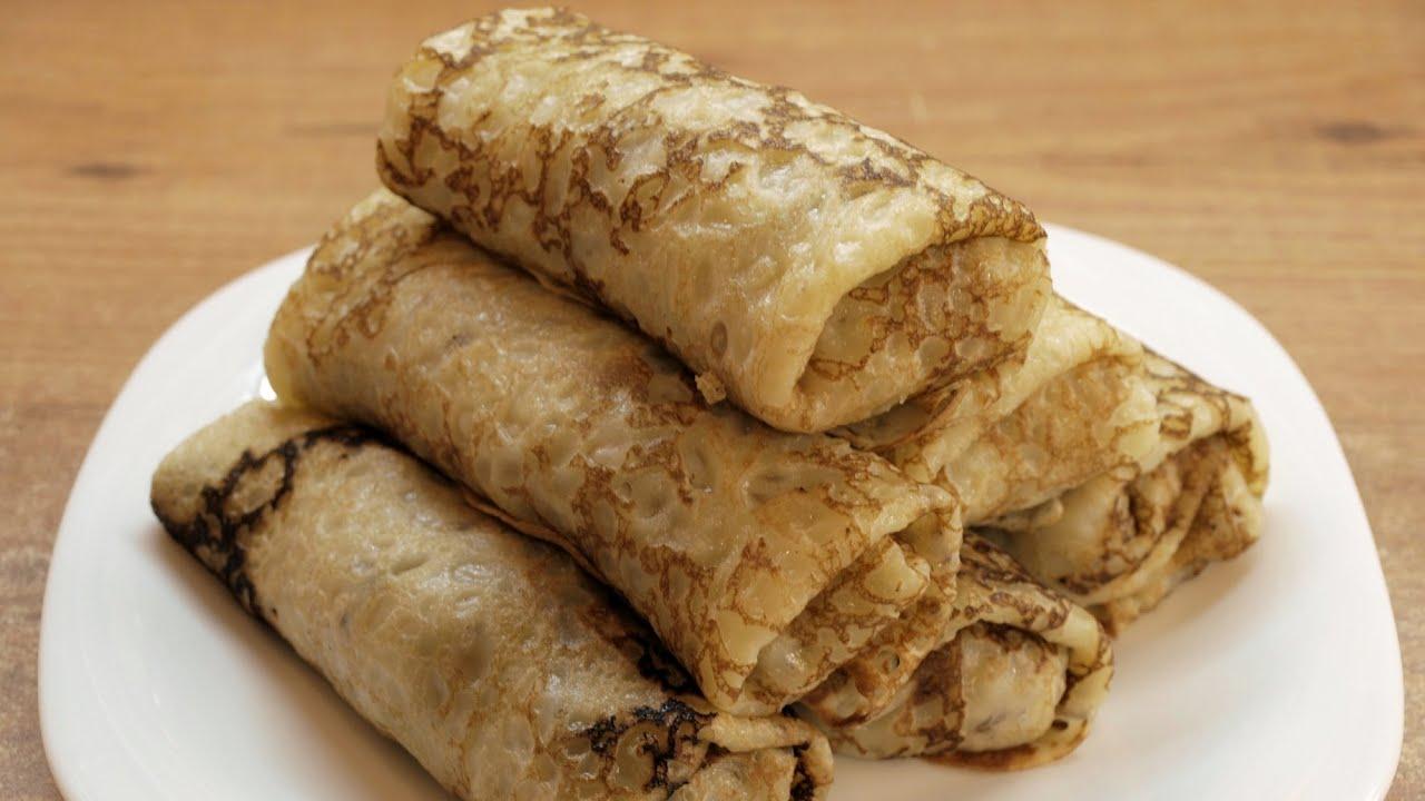 Блины с мясом и сыром рецепт с пошаговым фото