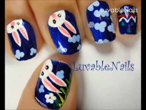 Easter bunny.. go hop, hop, hop nail art