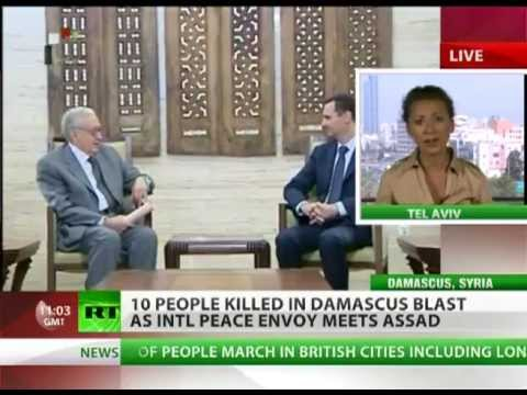 BREAKING NEWS: Damascus's Car BOMB as UN peace envoy VISIT