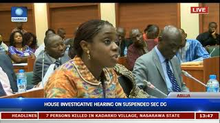 Adeosun Reveals How Documents Indicting Gwarzo Were Sent To Her Office, Denies Threat Pt.1