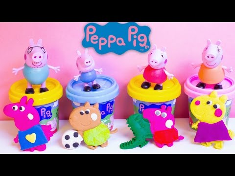 Play Doh Peppa Pig Space Rocket Dough Playset Peppa Pig Juguetes Plastilina Peppa Pig Toys Review