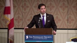 Rubio discusses Supreme Court at Federalist Society