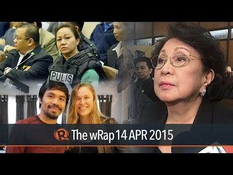 HEADLINES: The Ombudsman challenges the restraining order on Makati mayor Junjun Binay's suspension before the Supreme Court. Pork barrel scam mastermind Janet Napoles gets a life sentence.