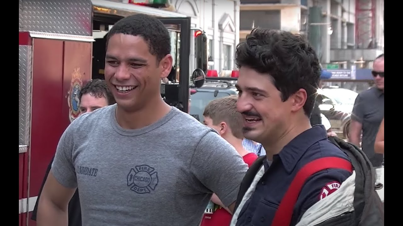 """""""Chicago Fire"""" Cast and Apparatus Filming Action with the Russian Arm - YouTube"""