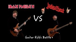 Iron Maiden VS Judas Priest (Guitar Riffs Battle)