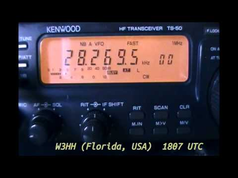 Six ham radio beacons on 10 meter band (CW) - March 28, 2012
