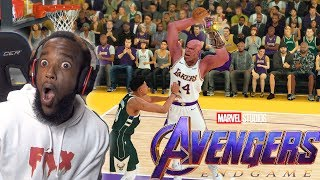 Playing with Avengers THANOS In NBA 2K19 vs PLAYOFFS GIANNIS!