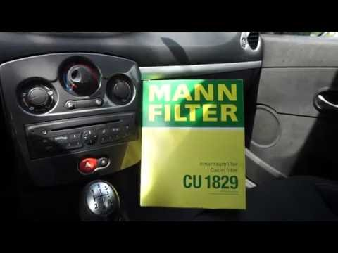 Cabin air filter replacement Renault Clio 3